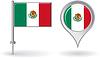 Mexican Pin-Symbol und Kartenzeiger flag