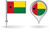 Guinea-Bissau-Pin-Symbol und Kartenzeiger flag