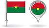 Burkina Faso-Pin-Symbol und Kartenzeiger flag