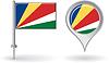 Seychellen-Pin-Symbol und Kartenzeiger flag