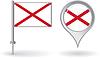 Nordirland-Pin-Symbol und Kartenzeiger flag