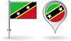 St. Kitts und Nevis-Pin-Symbol, Kartenzeiger flag