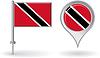 Trinidad und Tobago-Pin-Symbol, Kartenzeiger flag