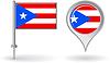 Puerto-ricanischen Pin-Symbol und Kartenzeiger flag