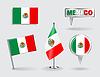 Set von Mexican Stift, Symbol und Kartenzeiger flags