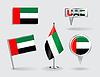 Set von United Arab Emirates Stift, Symbol und Karte