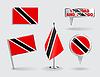 Set von Trinidad und Tobago Stift, Symbol, Kartenzeiger
