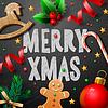 Frohe Weihnachten festlich Hintergrund mit