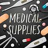 Medical Vorlage mit Medizin-Ausrüstung