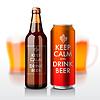 Bierflasche und mit Etikett - Keep Calm and drin