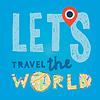 Lets go Reise Welt. Urlaub und Tourismus-Konzept
