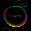 Kreativität abstrakten Hintergrund mit Sprechblase