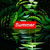 Векторный клипарт: Лето тропический лес, сезонные фон