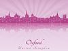 Векторный клипарт: Оксфорд горизонты в фиолетовый лучистой орхидеи