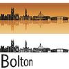 Векторный клипарт: Болтон горизонт в оранжевом фоне