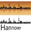 Векторный клипарт: Ганновер горизонт в оранжевом фоне