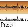 Векторный клипарт: Престон горизонт в оранжевом фоне