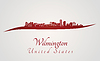 Wilmington Skyline in rot