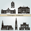 Векторный клипарт: Гронинген Достопримечательности