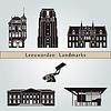 Векторный клипарт: Достопримечательности Леуварден и памятники