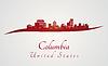 Columbia Skyline in rot