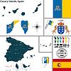 Karte von Kanarische Inseln, Spanien
