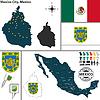 Karte von Mexiko-Stadt, Mexiko