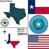 Karte des Staates Texas, USA
