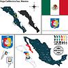 Karte von Baja California Sur, Mexiko