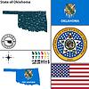 Karte von Staat Oklahoma, USA