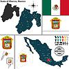 Karte von Staat von Mexiko, Mexiko