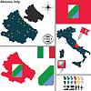 Karte von Abruzzen, Italien