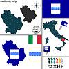 Karte von Basilicata, Italien