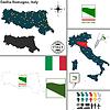 Karte von Emilia-Romagna, Italien