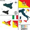 Karte von Sizilien, Italien