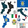 Karte von Kalabrien, Italien