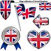 Glatte Ikonen mit Flagge von Großbritannien