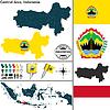 Karte von Zentral-Java, Indonesien