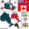 Karte von Ontario, Kanada