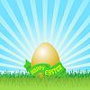 부활절 달걀 인사말 카드 | Stock Vector Graphics