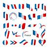 Векторный клипарт: Самая большая коллекция флагов Франции
