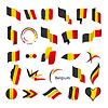 Векторный клипарт: Самая большая коллекция флагов Бельгии