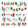 Векторный клипарт: Самая большая коллекция флагов Италии