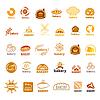 Векторный клипарт: Самая большая коллекция логотипов пекарни