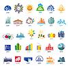 Größte Sammlung von Logos Städte