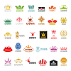 Największy zbiór loga korony | Stock Vector Graphics