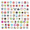 Векторный клипарт: Самая большая коллекция логотипов пятиконечных звезд