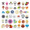 Векторный клипарт: Самая большая коллекция логотипов пищи