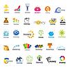 Векторный клипарт: Самая большая коллекция логотипов деньги, финансы