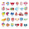 Векторный клипарт: Самая большая коллекция логотипов новости